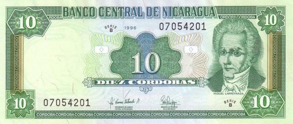 Nicaragua 10 Córdobas (1992-1996 )