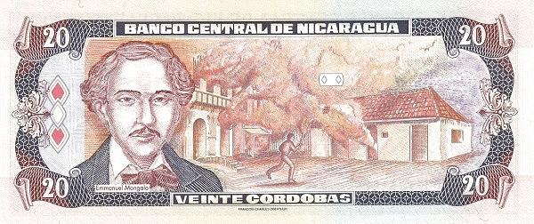 Nicaragua 20 Córdobas(1992-1996)
