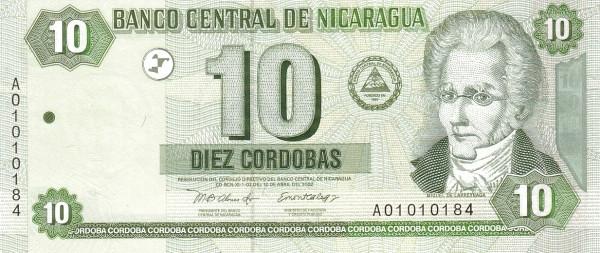 Nicaragua 10 Córdobas (2002 )