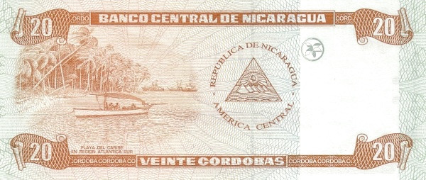 Nicaragua 20 Córdobas(2002)