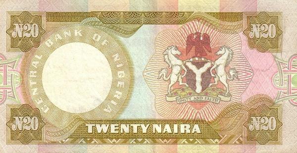 """Nigeria 20 Naira (1978-1984 20 Naira"""" )"""""""