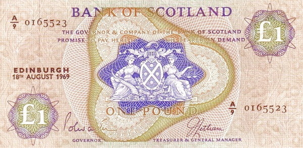 Scotland 1 Pound (1968-1969 Bank of Scotland)