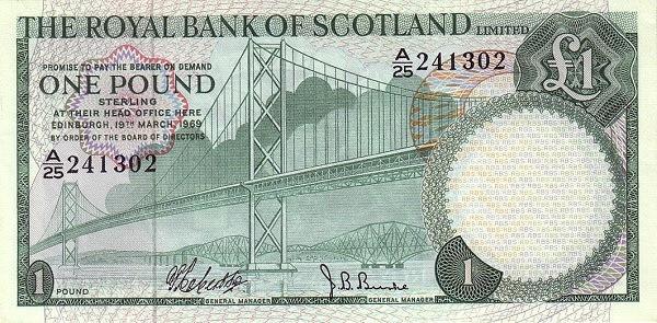 Scotland 1 Pound (1969 Royal Bank of Scotland )