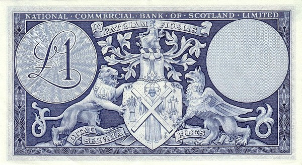 Scotland 1 Pound (1959 National Commercial Bank of Scotland Ltd.)