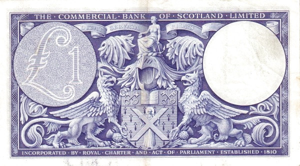 Scotland 1 Pound (1954-1958 Commercial Bank of Scotland)