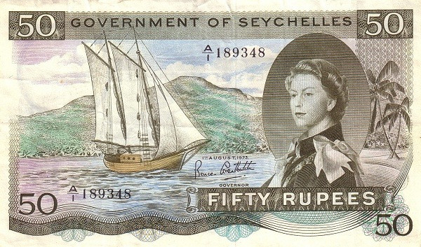 "Seychelles 50 Rupees(1968-1975 Elizabeth II"" )"""