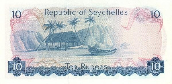 "Seychelles 10 Rupees(1976-1977 President Mancham"" )"""