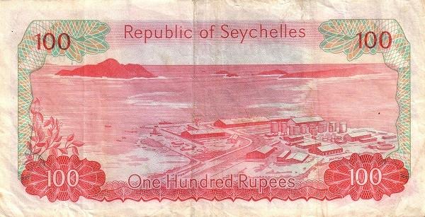 "Seychelles 100 Rupees(1976-1977 President Mancham"")"""