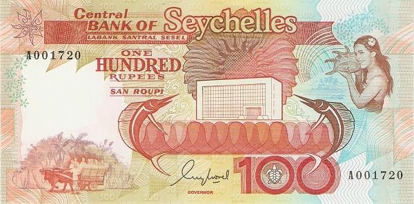"Seychelles 100 Rupees(1989 Bank Building"" )"""