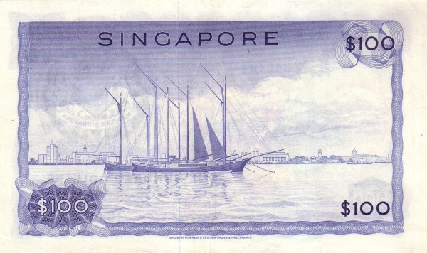 "Singapore 100 Dollars (1967-1973 Flowers"")"""