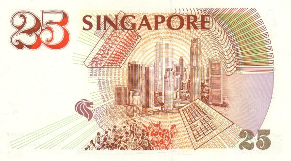 "Singapore 25 Dollars (1996 25th Anniversary of Monetary Authority"" )"""
