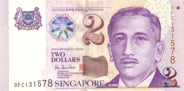 "Singapore 2 Dollars (1999 President Yusof"" )"""