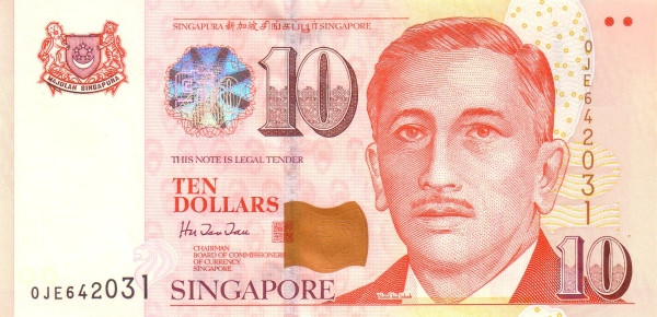 "Singapore 10 Dollars (1999 President Yusof"")"""