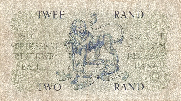 "South Africa 2 Rand (1961-1965 Van Riebeeck - Alternating English or Afrikaans on Top"")"""