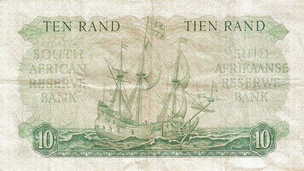 "South Africa 10 Rand (1961-1965 Van Riebeeck - Alternating English or Afrikaans on Top"")"""
