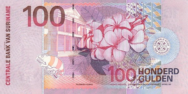 "Suriname 100 Gulden (2000 Birds"")"""