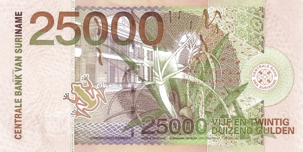 "Suriname 25000 Gulden (2000 Birds"")"""