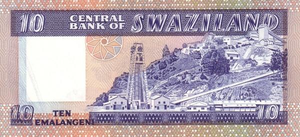 """Swaziland 10 Emalangeni(1982-1986 Sobhuza II"""")"""""""