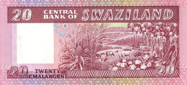 """Swaziland 20 Emalangeni(1986 20 Emalangeni Mswati III"""")"""""""