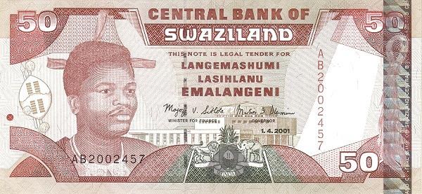 Swaziland 50 Emalangeni(2001-2006)