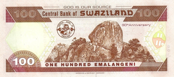 Swaziland 100 Emalangeni(2004 30th Anniversary of Central Bank)""