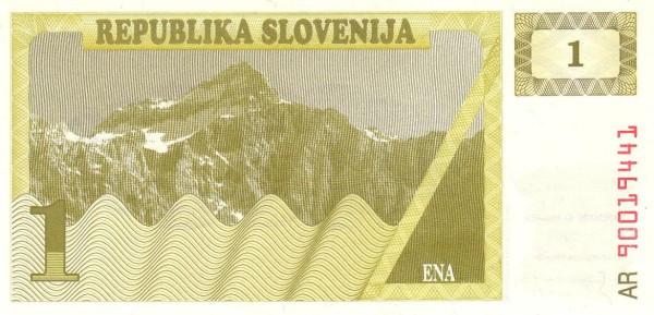 "Slovenia 1 Tolar (1990-1992 Triglav Mountain"" )"""