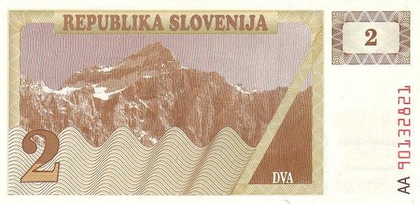 "Slovenia 2 Tolarja (1990-1992 Triglav Mountain"" )"""