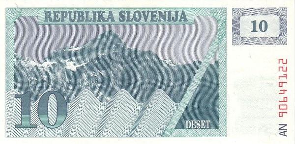 "Slovenia 10 Tolarjev (1990-1992 Triglav Mountain"" )"""