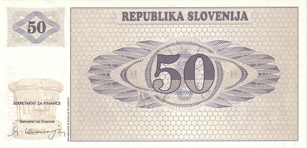 "Slovenia 50 Tolarjev (1990-1992 Triglav Mountain"" )"""