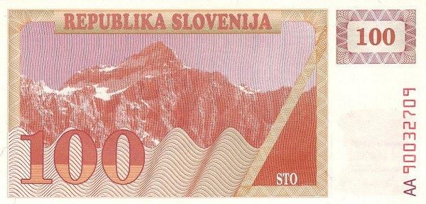 "Slovenia 100 Tolarjev (1990-1992 Triglav Mountain"" )"""