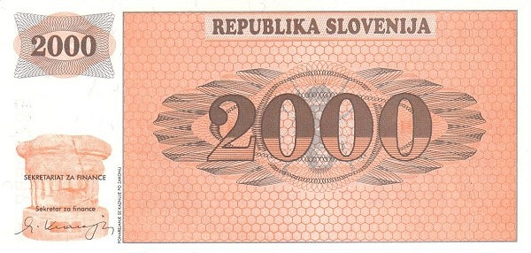"Slovenia 2000 Tolarjev (1990-1992 Triglav Mountain"" )"""
