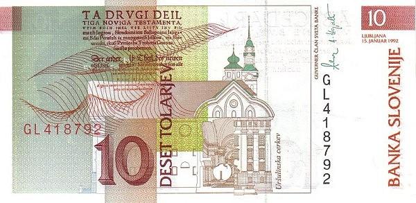 Slovenia 10 Tolarjev (1992-2005 )