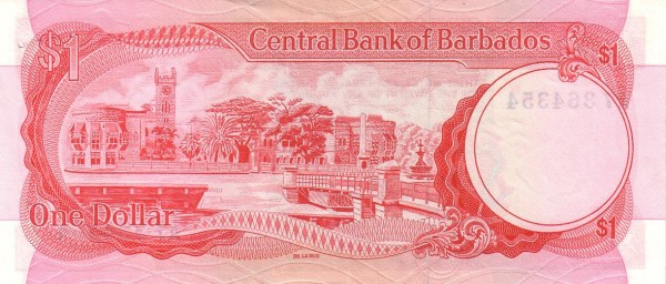 Barbados 1 Dollar (CENTRAL BANK OF BARBADOS)