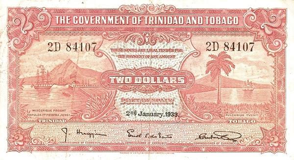 Trinidad and Tobago 2 Dollars (1934-1949)