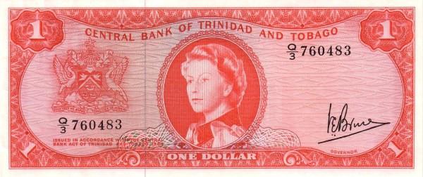 """Trinidad and Tobago 1 Dollar (1964 Elizabeth II"""")"""""""