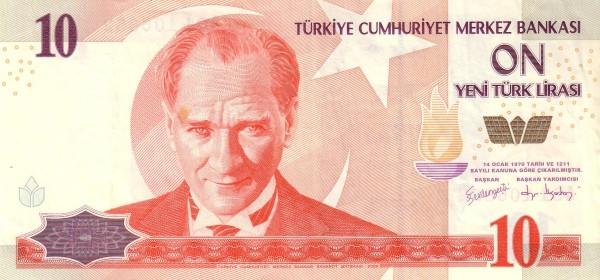 Turkey 10 Yeni Türk Lirası