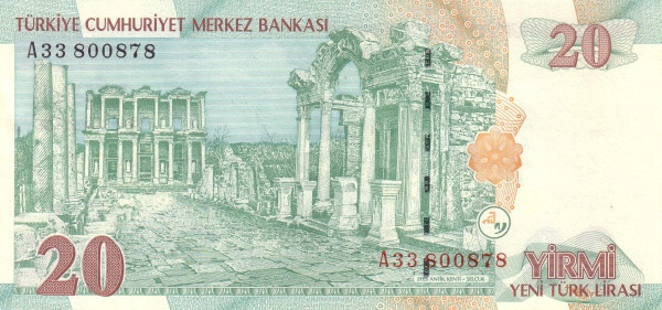 Turkey 20 Yeni Türk Lirası