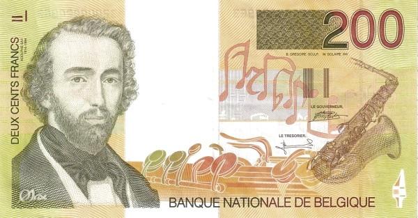 Belgium 200 Francs (Adolphe Sax)