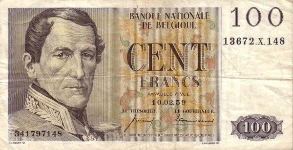 Belgium 100 Francs (type Centenaire)