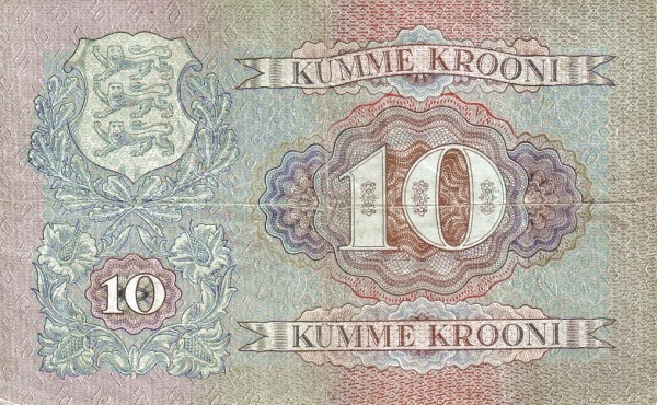 Estonia 10 Krooni(1937 Eesti Pank)