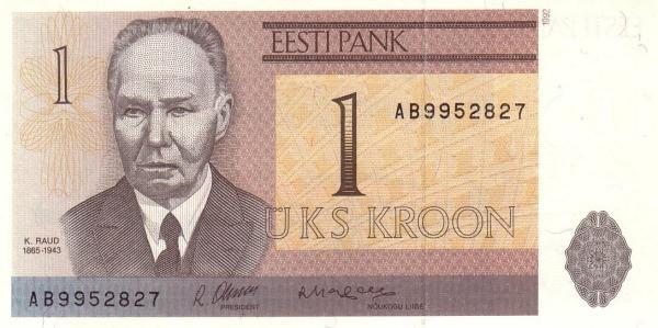 Estonia 1 Krooni (1991-1992 Eesti Pank)