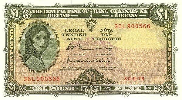 Ireland 1 Pound (1961-1976 Central Bank of Ireland)