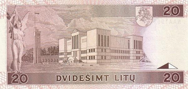 Lithuania 20 Litų (1993-1994 Lietuvos Bankas)