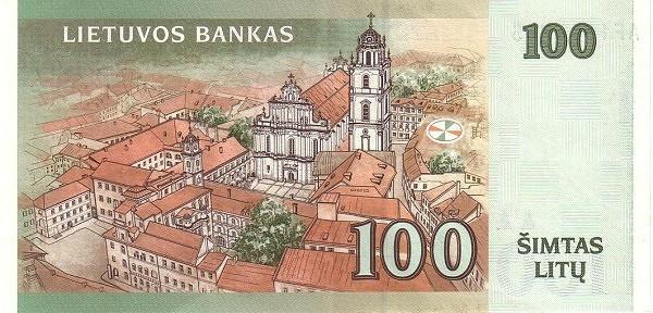 Lithuania 100 Litų (1997-2000 Lietuvos Bankas)
