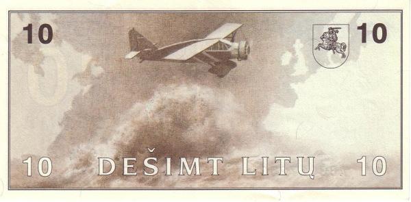 Lithuania 10 Litų (1991-1994 Lietuvos Bankas)