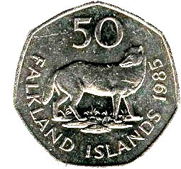 Falkland Islands 50 pence
