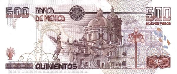 """Mexico 500 Pesos (1994 Nuevos Pesos New Design"""")"""""""