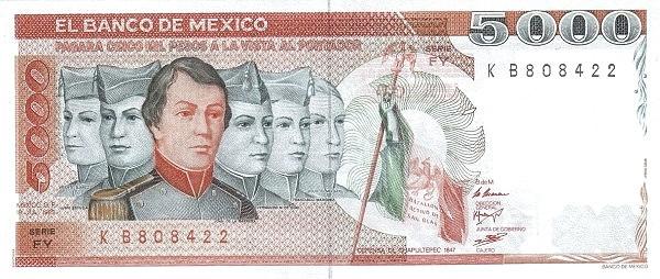 Mexico 5000 Pesos (1985)