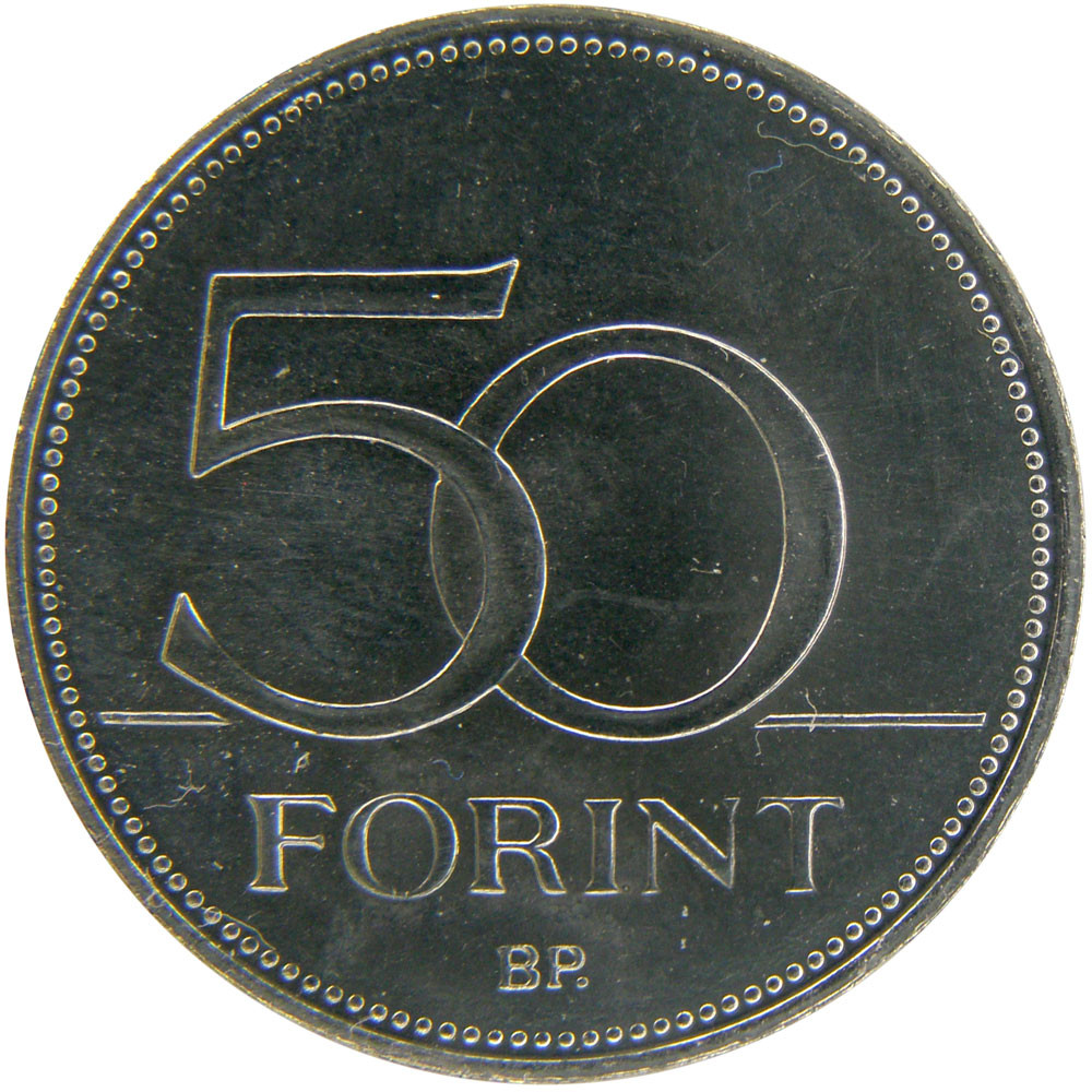 Hungary 50 Forints (70 Years Of Forint)