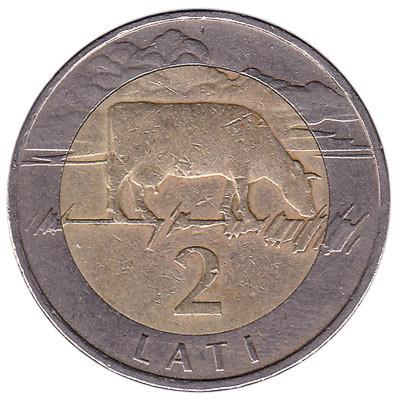 Latvia 2 Lati